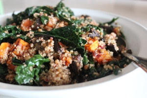 Warm Quinoa and roast veg saald